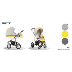 Wózek 3w1 Bebetto Murano 01M  żółty