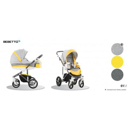 Wózek 2w1 Bebetto Murano żółty