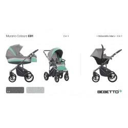 Wózek 3w1 Bebetto Murano Colours C01