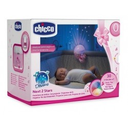 Chicco Projektor na Łóżeczko Lampka z Pozytywką pink