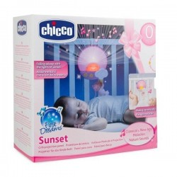Chicco Panel na łóżeczko z pozytywką Słońce 0m+ pink