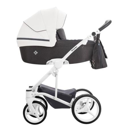 Wózek Bebetto Torino 3w1 Biały stelaż Kolor 01