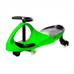 Pojazd Dziecięcy Crazycar koła Led green
