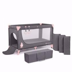 Kinderkraft łóżeczko turystyczne JOY pink