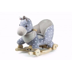 Kinderkraft konik na biegunach z funkcją jeździka gray