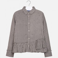 7107 Bluzka w paski dla dziewczyny Mayoral Jesień