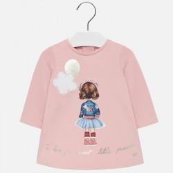 2920 Sukienka z nadrukiem dla dziewczynki Baby mayoral jesień/zima