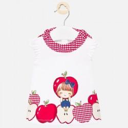 1886 Sukienka dla dziewczynki czerwony Newborn mayoral wiosna