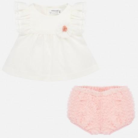 1140 Komplet z bluzką dla dziewczynki Newborn mayoral wiosna