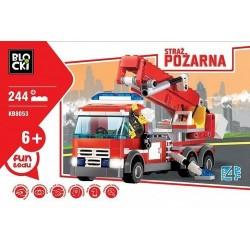Klocki blocki wóz strażacki 244