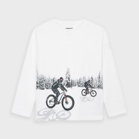4049 koszulka dla chłopca biała mayoral jesień