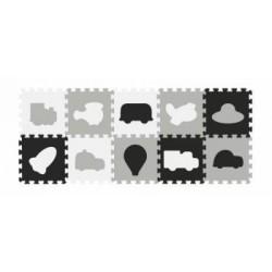 Baby Ono puzzle piankowe 10szt czarno-biale