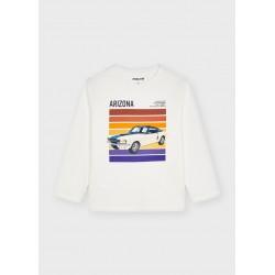 4081biała koszulka dla chłopaka Mayoral jesien/zima