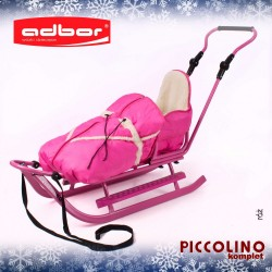 Sanki Piccolino komplet pink