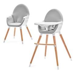 Kinderkraft krzesełko do karmienia FINI 2w1 gray