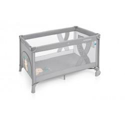 Łóżeczko turystyczne Baby Design Simple szary