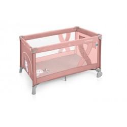 Łóżeczko turystyczne Baby Design Simple pink